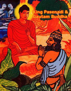King Pasenadi and Gautam Buddha