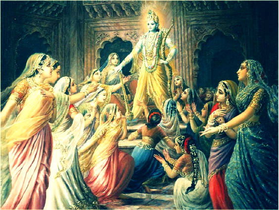 Krishna Narkasur Wives