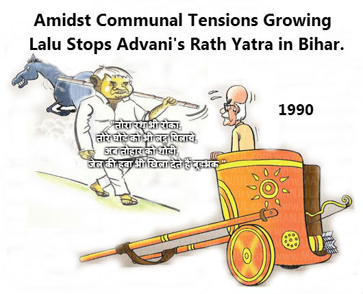 Laloo Advani Rath Yatra