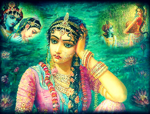 Radha thinks of Krishna