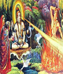 Shiva Burns Kamdev
